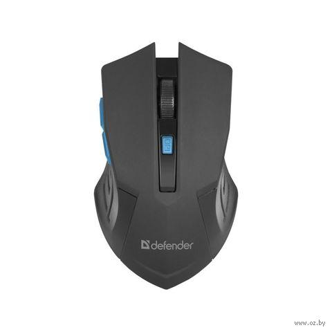 Мышь беспроводная Defender Accura MM-275 (черно-синяя) — фото, картинка