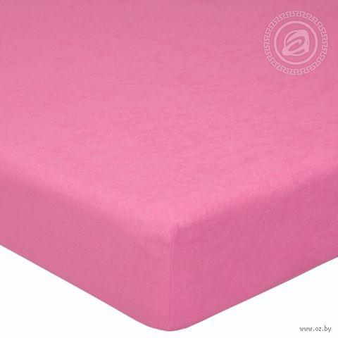 """Простыня махровая на резинке """"Брусника"""" (160х200 см) — фото, картинка"""