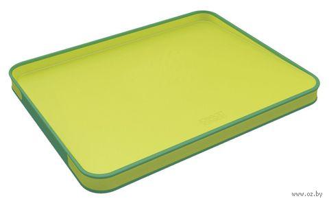 "Доска разделочная ""Cut&Carve Plus Large"" (37х30х2,5 см; двухсторонняя; зеленая)"
