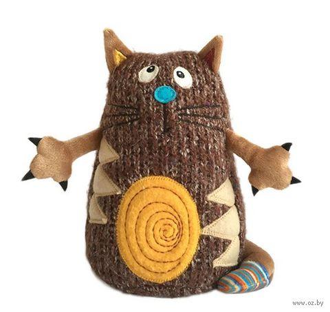 """Мягкая игрушка """"Котейка"""" (15 см; коричневый)"""