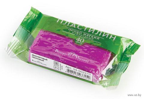 Пластилин особо мягкий кукурузный (40 г; фиолетовый неоновый) — фото, картинка