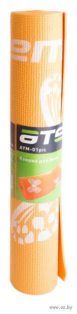Коврик для йоги (172,7х61x0,4 см; арт. AYM-01 pic) — фото, картинка
