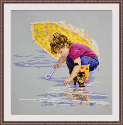 """Вышивка крестом """"Солнечный зонтик"""" (400х360 мм) — фото, картинка"""
