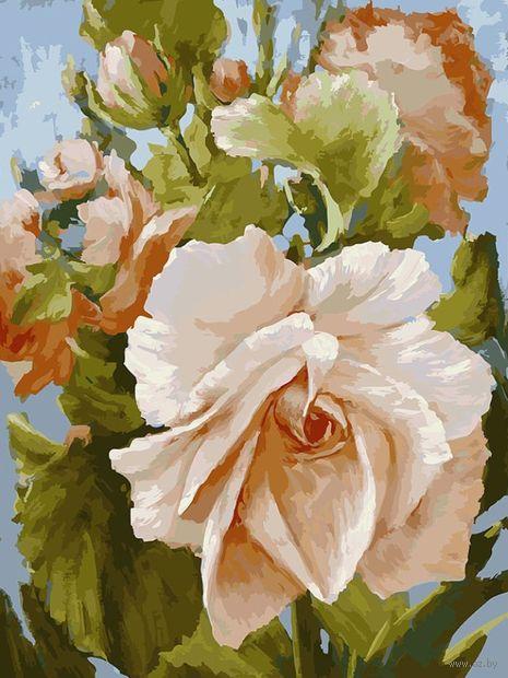 """Картина по номерам """"Роза"""" (300х400 мм) — фото, картинка"""