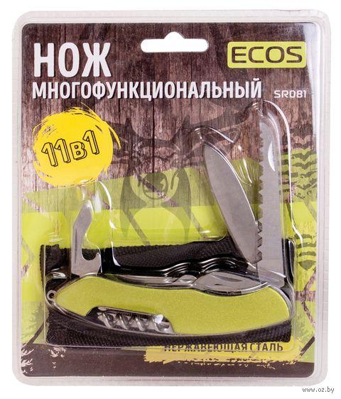 """Нож Ecos """"SR081"""" (11 функций; зелёный) — фото, картинка"""