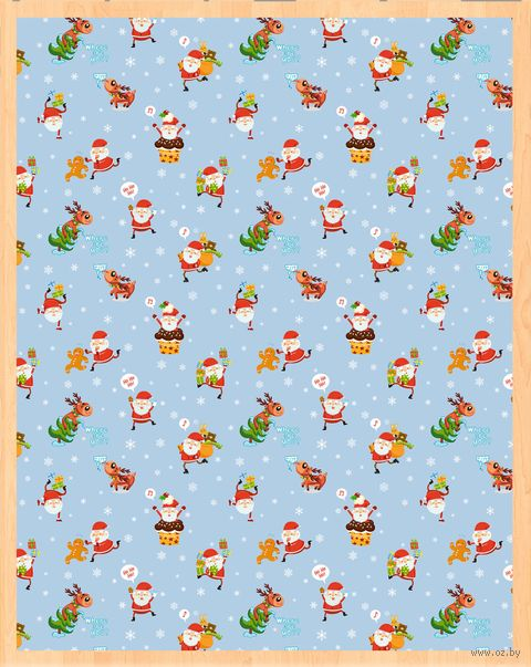 "Простыня хлопковая ""Merry Christmas №2"" (220х240 см) — фото, картинка"