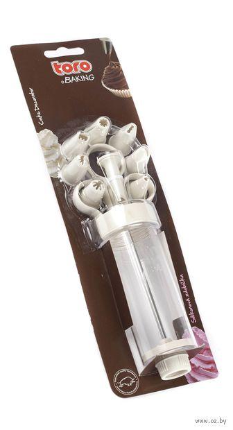 Шприц кондитерский с насадками (170 мм)
