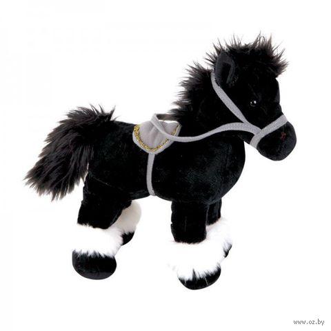 """Мягкая игрушка """"Лошадка черная"""" (28 см)"""