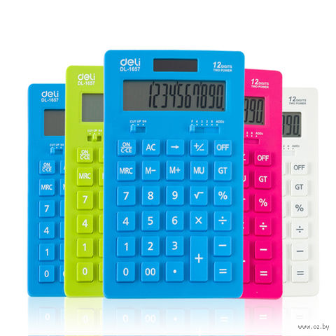 Калькулятор настольный (12 разрядов; арт. 1657А) — фото, картинка