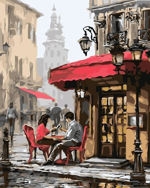 "Картина по номерам ""Летнее кафе"" (300х400 мм) — фото, картинка"