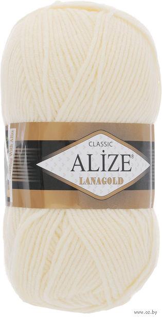 "Пряжа ""ALIZE. Lana Gold №01"" (100 г; 240 м) — фото, картинка"