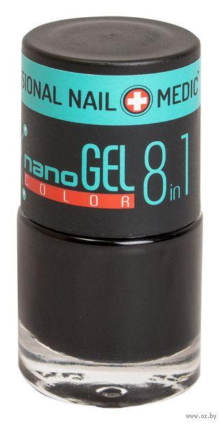 """Лак для ногтей """"Nano Gel Color"""" (тон: 02, черный) — фото, картинка"""
