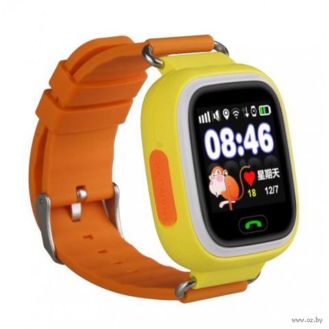 Детские часы SmartBabyWatch Q80 (желтые) — фото, картинка