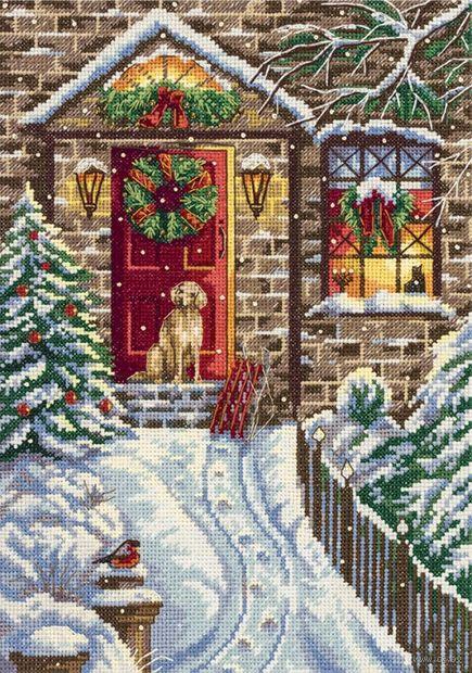 "Вышивка крестом ""В канун Рождества"" (190х270 мм) — фото, картинка"