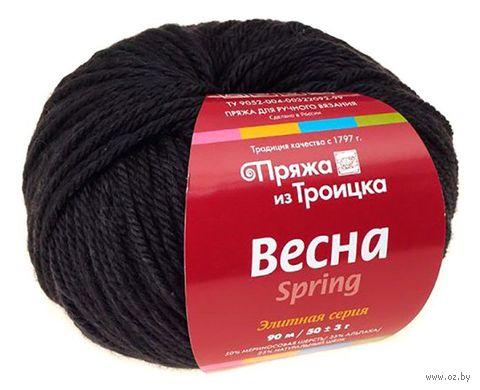 """Пряжа """"Троицкая. Весна №140"""" (50 г; 90 м; черный) — фото, картинка"""