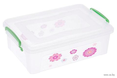 Ящик для хранения пластмассовый с крышкой (6 л; арт. 30254)