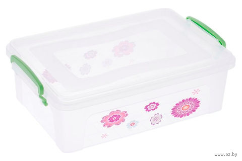 Ящик для хранения с крышкой (6 л)