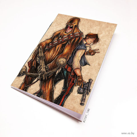 """Блокнот крафт """"Звездные войны"""" А7 (913)"""