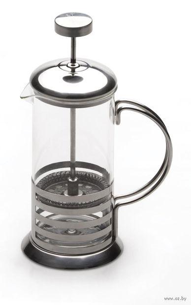 Кофейник с прессом, стекло/металл, 600 мл (арт. 1106801)