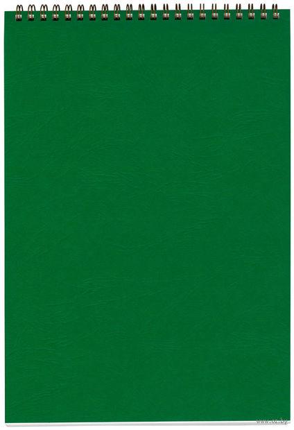 """Блокнот в клетку """"Office"""" (А4; зеленый) — фото, картинка"""