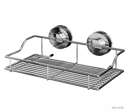 Полка для ванной металлическая на присосках (250х142х95 мм) — фото, картинка