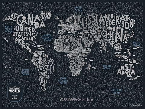 """Скретч-карта """"Letters World"""" (800х600 мм) — фото, картинка"""