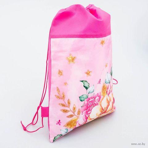 """Рюкзак-мешок """"Цветы"""" (арт. 3241557) — фото, картинка"""