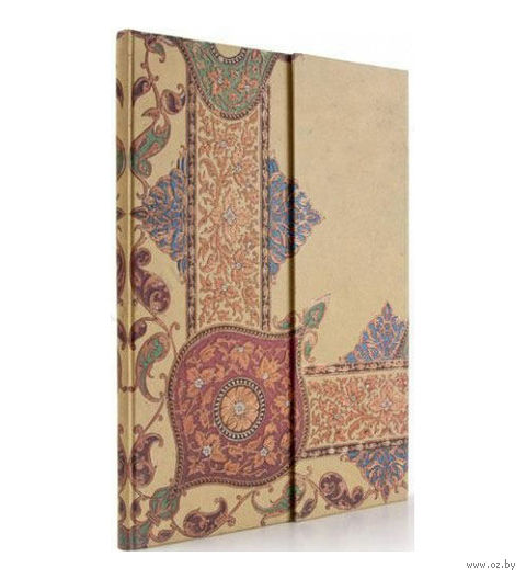"""Записная книжка Paperblanks """"Узор в стиле пэйсли"""" в линейку (слоновая кость, 210*300 мм)"""