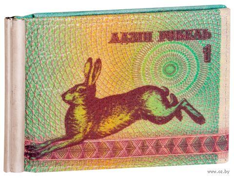 """Зажим для денег с монетницей """"Зайчик"""" — фото, картинка"""
