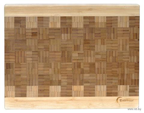 Доска разделочная бамбуковая (35,5х28х3,2 см)