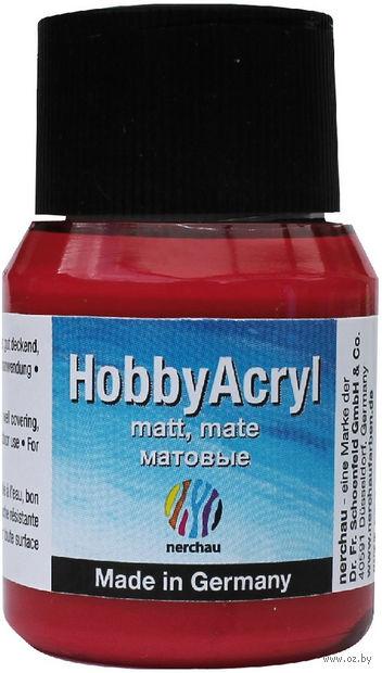"""Краска акриловая матовая """"Hobby Acryl matt"""" (красный металлик; 59 мл) — фото, картинка"""