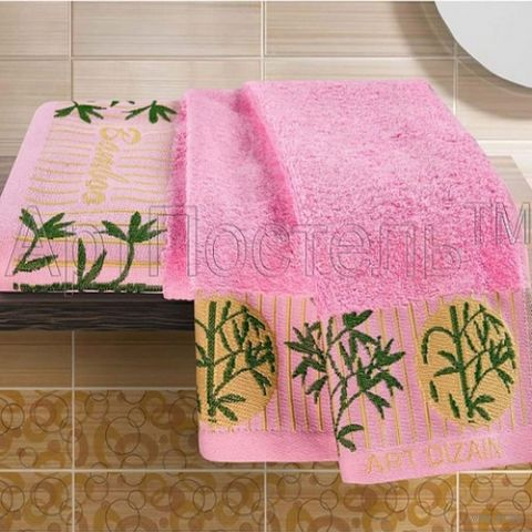 Полотенце махровое (2 шт.; розовое) — фото, картинка