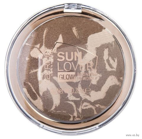 "Пудра для лица ""Sun Lover Glow"" тон: 010, sun-kissed bronze — фото, картинка"