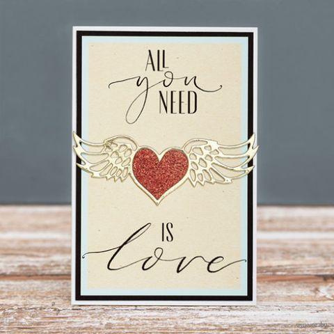 "Открытка ""With Love"" (арт. 19-P-426) — фото, картинка"