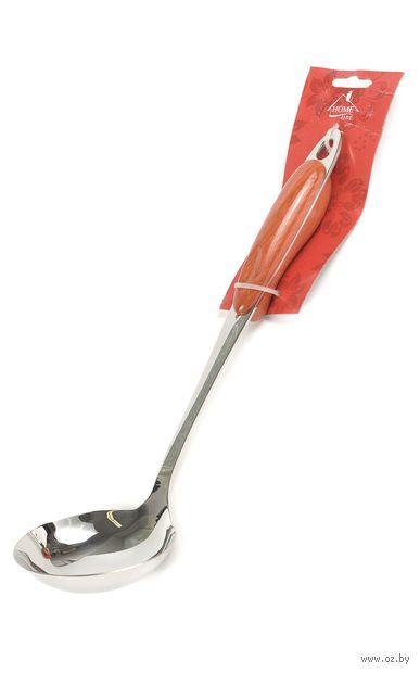 Половник металлический с пластмассовой ручкой (32 см, арт. KL31B09-A04)