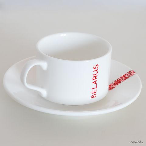 """Чашка с блюдцем """"Вышыванка"""" (160 мл)"""