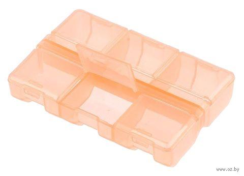 Органайзер для рукоделия (оранжевый; 6 отделений) — фото, картинка