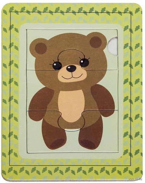 "Пазл-рамка ""Медвежонок"" (3 элемента) — фото, картинка"