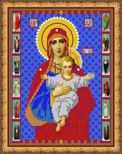 """Вышивка бисером """"Пресвятая Богородица. Азь Есмь"""" (арт. 8393)"""