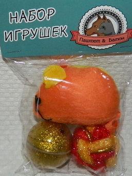 Набор игрушек для кота пластмасса/полиэстер (3 шт, 4/8 см; арт. YT42119)
