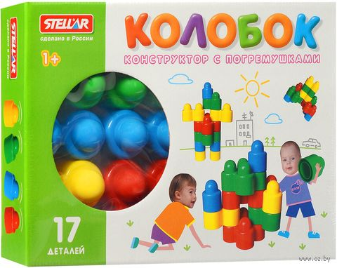 """Конструктор """"Колобок"""" (17 деталей)"""
