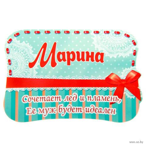 """Магнит пластмассовый """"Марина"""" (10х6,9 см)"""