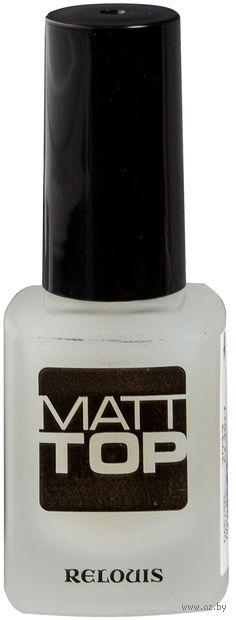 """Верхнее покрытие для ногтей """"Matt Top"""" тон: прозрачный — фото, картинка"""