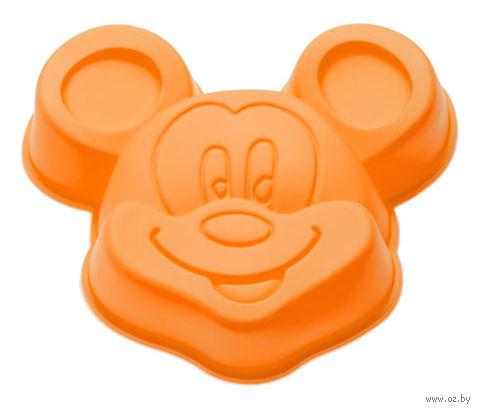 """Форма для выпекания силиконовая """"Микки"""" (140х130x30 мм; оранжевая) — фото, картинка"""