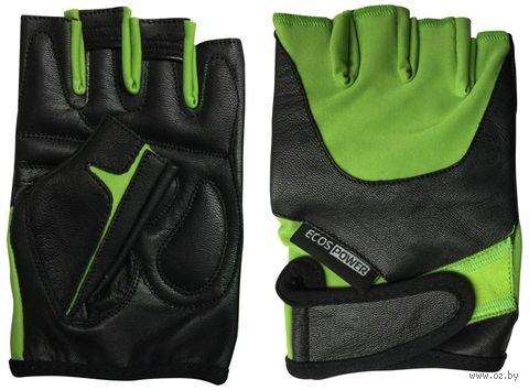 Перчатки для фитнеса 5102-GМ (М; чёрно-зелёные) — фото, картинка