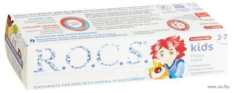 """Зубная паста """"R.O.C.S. Kids. Фруктовый рожок"""" для детей от 3 до 7 лет (45 г)"""