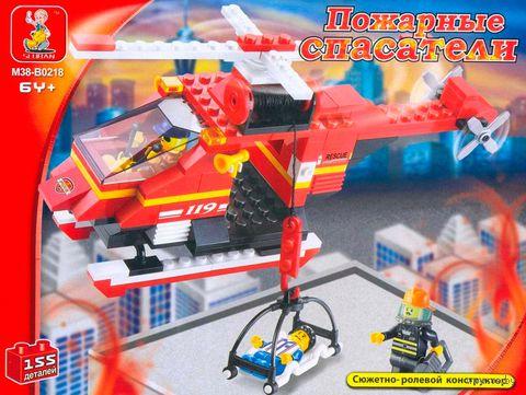 """Конструктор """"Пожарные спасатели. Пожарный вертолет"""" (155 деталей)"""