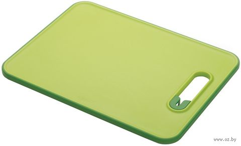 "Доска разделочная с ножеточкой ""Slice&Sharpen"" (300х220х10 мм; зеленая) — фото, картинка"