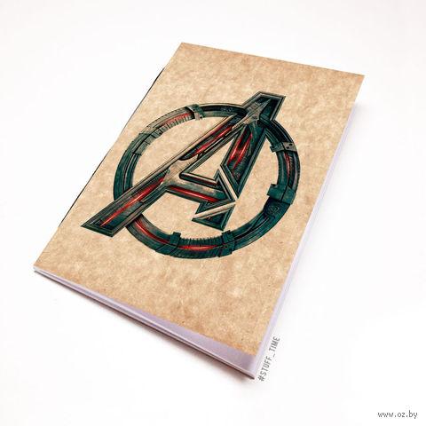 """Блокнот крафт """"Мстители"""" (А7; арт. 137) — фото, картинка"""