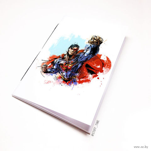 """Блокнот белый """"Супермен"""" А6 (880)"""
